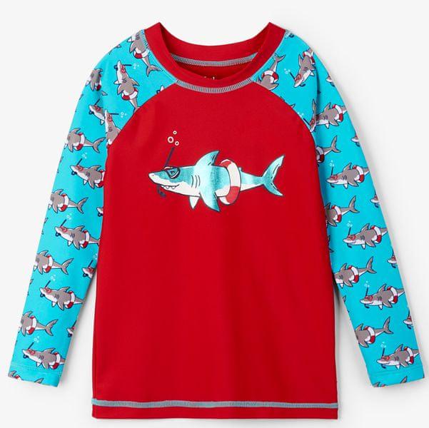 Hatley chlapecké plavecké tričko UV 50+ 104 červená/modrá