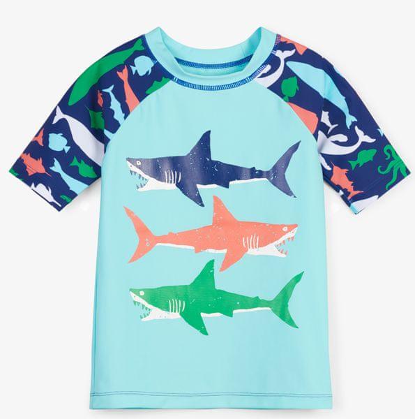 Hatley chlapecké plavecké tričko UV 50+ 110 modrá