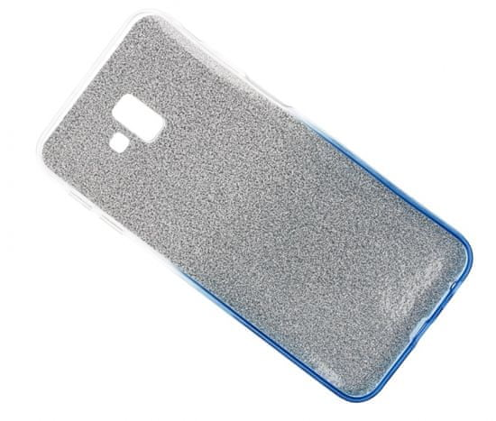 Bling silikonska maska sa šljokicama za Galaxy J6 Plus 2018 J610, srebrno-plava