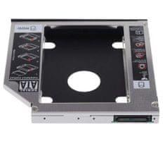 Ewent adapter za SSD/HDD v 9,5mm DVD režo, SATA3, aluminij EW7003