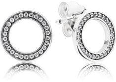 Pandora Kruhové náušnice s krystaly 290585CZ stříbro 925/1000