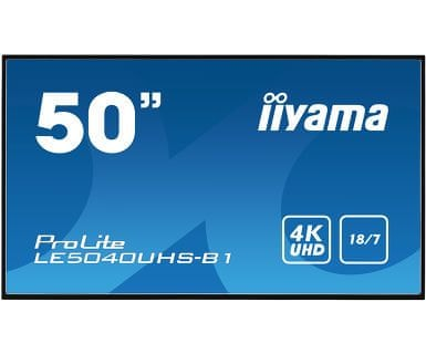 "iiyama LED LCD informacijski monitor ProLite LE5040UHS-B1, AMVA3, VGA/DVI/HDMI, 127 cm (50""), črn"