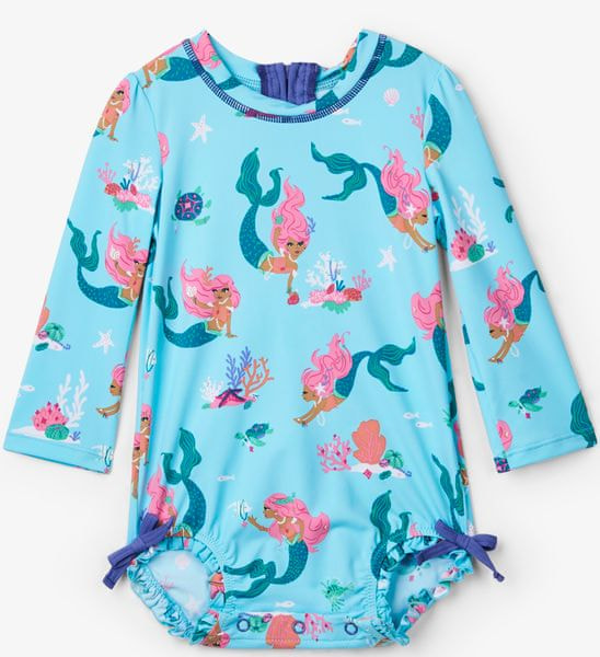 Hatley dívčí plavky UV 50+ - tyrkysové 74 tyrkysová