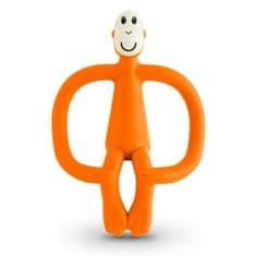 Matchstick Monkey grizalo z masažno zobno ščetko, oranžna