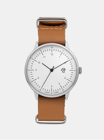 CHPO hodinky s hnědým koženým páskem Harold  32a4796bd1