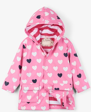 Hatley dziewczęcy płaszcz przeciwdeszczowy zmieniający kolory 92 różowy