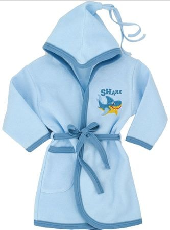 Makoma chłopięcy szlafrok z kapturem niebieski 104