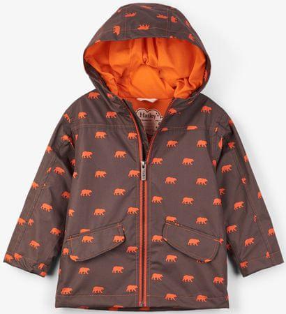 Hatley Chłopięcy płaszcz przeciwdeszczowy 92 brązowy