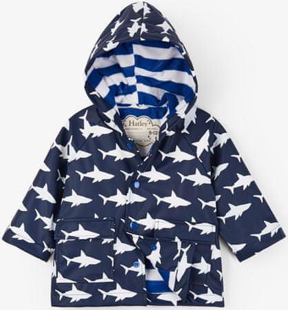 Hatley Chłopięcy płaszcz przeciwdeszczowy zmieniający kolory 74 - 80 niebieski