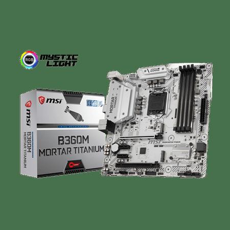 MSI osnovan plošča B360M MORTAR TITANIUM, DDR4, SATA3, USB3.1Gen2, DP, LGA1151 mATX
