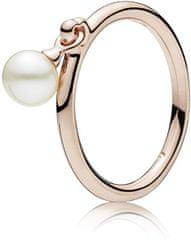 Pandora Bronzový prsten s pravou perlou 187525P stříbro 925 1000 95da5e6ad6a