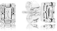 Pandora Błyszczące srebro Kolczyki 297567 CZ srebro 925/1000