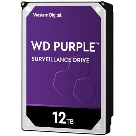 """Western Digital tvrdi disk Purple, 12TB, 8,89 cm (3,5""""), SATA3, 256 MB, 7200rpm (WD121PURZ)"""