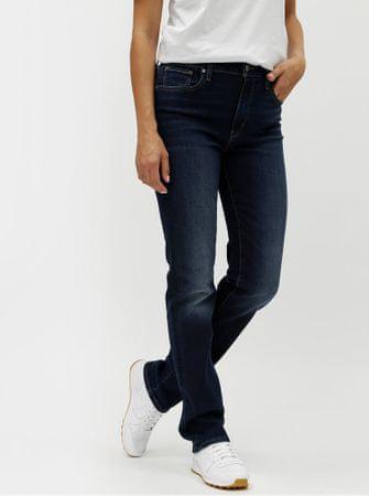 082f419871f Levis tmavě modré dámské straight džíny s vyšisovaným efektem M ...