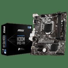 MSI osnovna plošča H310M PRO-VH, DDR4, SATA3, HDMI, USB3.1Gen1, LGA1151 mATX