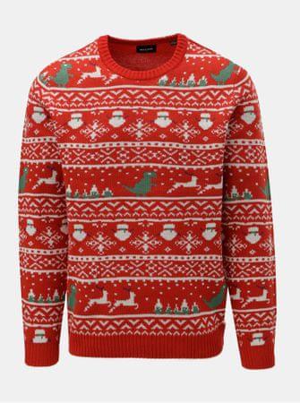 26906e608ed ONLY SONS červený svetr s vánočním motivem Xmas XL
