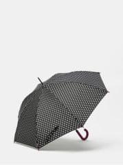Rainy Seasons černý puntíkovaný vystřelovací deštník