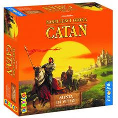Igroljub družabna igra Catan, razširitev Mesta in Vitezi - Odprta embalaža