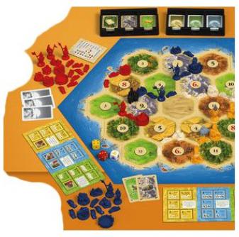 Igroljub družabna igra Catan, razširitev Mesta in Vitezi