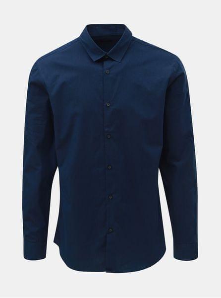 0875cdb70f4 Selected Homme tmavě modrá slim fit košile s drobnými pruhy Slim John L