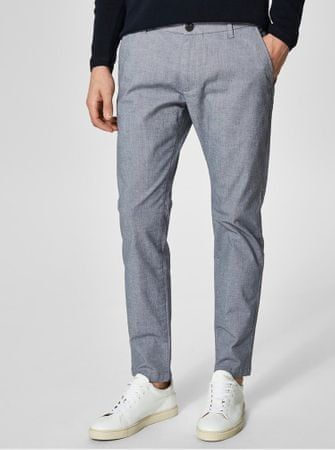 Selected Homme šedé chino kalhoty Harval M