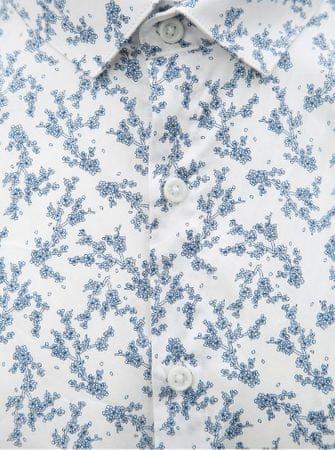 Lindbergh modro-bílá květovaná košile s dlouhým rukávem XL  47d243fbcd