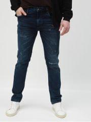 Lindbergh modré slim džíny s potrhaným efeketem