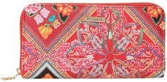 Desigual Pénztárca  Mone Folklore Cards Fiona Persian Red 19SAYP58 3105