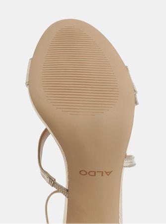 96604c074cf ALDO sandálky ve zlaté barvě na jehlovém podpatku 37