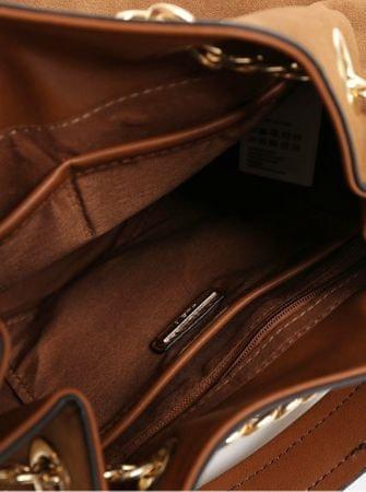 2dc1142538 ALDO hnědá malá kabelka crossbody kabelka v semišové úpravě