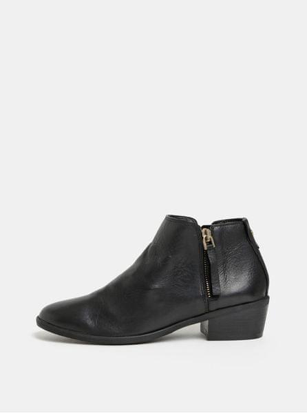 ALDO černé dámské kožené kotníkové boty Veradia 42 1/2