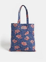 Cath Kidston růžovo-modrá dámská květovaná taška