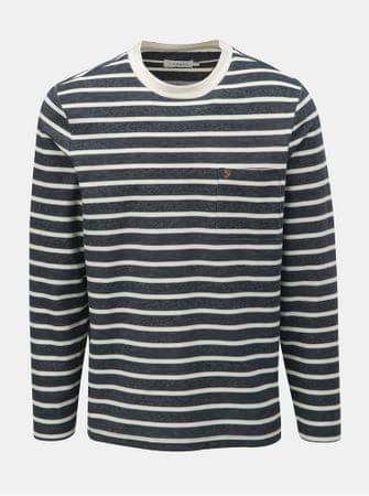 Farah bílo-modré pruhované tričko s dlouhým rukávem Melis L ... 4d37ea36d1