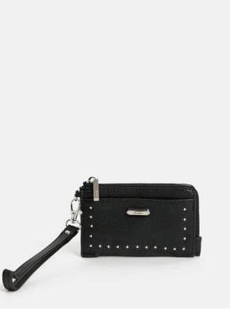 Gionni černá malá peněženka s detaily ve stříbrné barvě Camelia