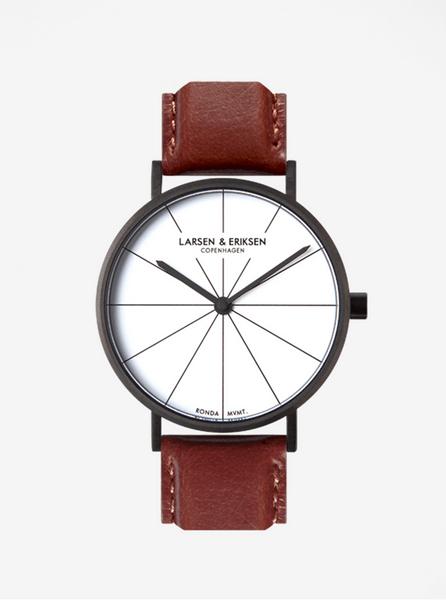 LARSEN   ERIKSEN hodinky s hnědým koženým páskem 875285decb