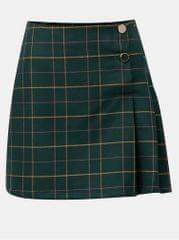 Miss Selfridge tmavě zelená kostkovaná minisukně s knoflíky