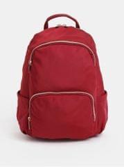ZOOT červený batoh se zipy ve zlaté barvě