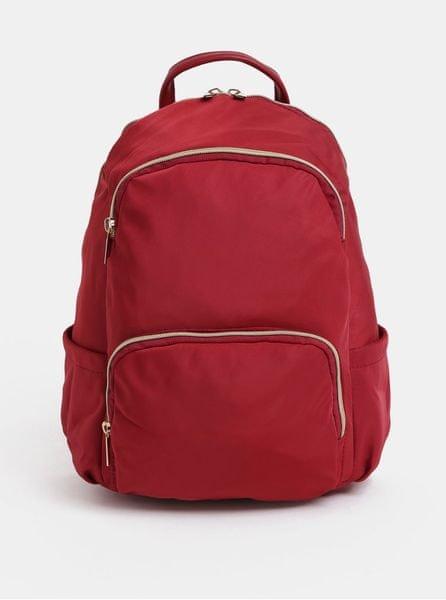 ZOOT červený batoh se zipy ve zlaté barvě 3fc43a0c85