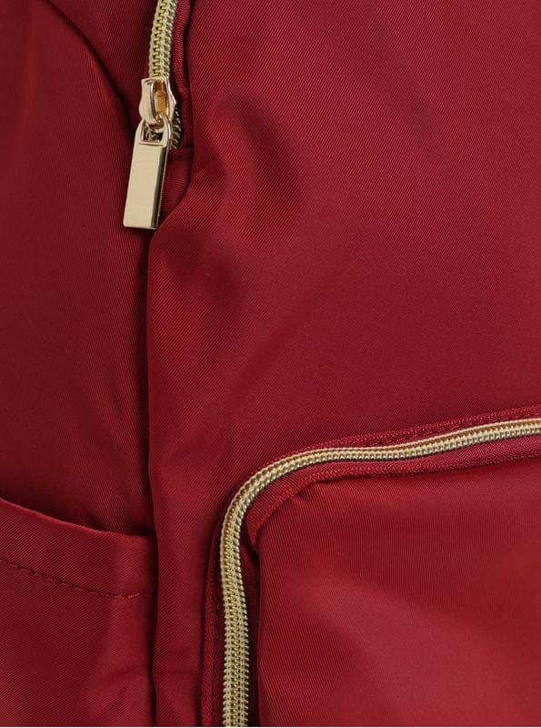 ZOOT červený batoh se zipy ve zlaté barvě - Parametry  27aaeeed015