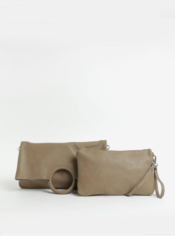 ZOOT béžová kožená kabelka s pouzdrem 2v1