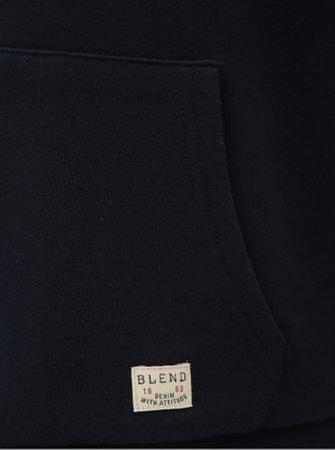 Blend tmavě modrá mikina s umělým kožíškem L - Diskuze  757d08a025