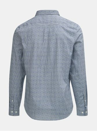 Original Penguin modrá kostkovaná košile s náprsní kapsou 3XL  44331106b3