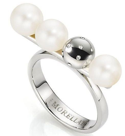Morellato Ocelový prsten s perlami Lunae SADX13 (Obvod 56 mm)