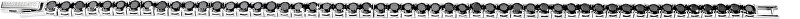 Morellato Ocelový náramek s černými krystaly Cross SADT (Délka 19 cm)
