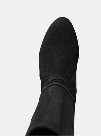 Tamaris tmavě šedé kozačky v semišové úpravě na vysokém podpatku 39 ... 307b3a65b2