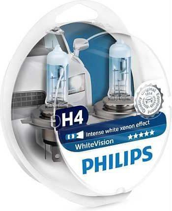 Philips žarulja Halogen H4 12V + W5W White Vision (Xenon efekt)