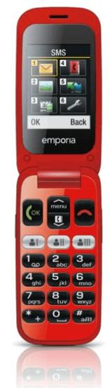 Emporia telefon ONE V200, rdeč