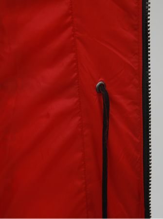ONLY červený prošívaný zimní kabát s odnímatelnou kapucí Newottowa L ... c2661226c5
