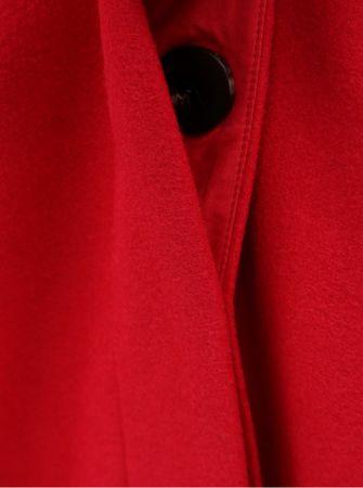 VILA červený kabát s příměsí vlny S  2720bcba80