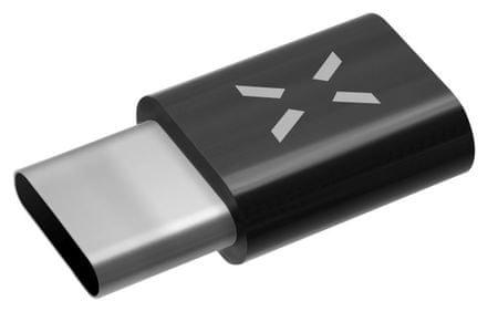 Fixed Redukce pro nabíjení a datový přenos z microUSB na USB-C 2.0, černá FIXA-MTOC-BK